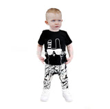 2016 kids boys summer style infant baby boy clothes set baby boy clothing sets cotton little monsters 2pcs baby girl clothes set - blank14 / 0-3 months - Houzz of Threadz - 5