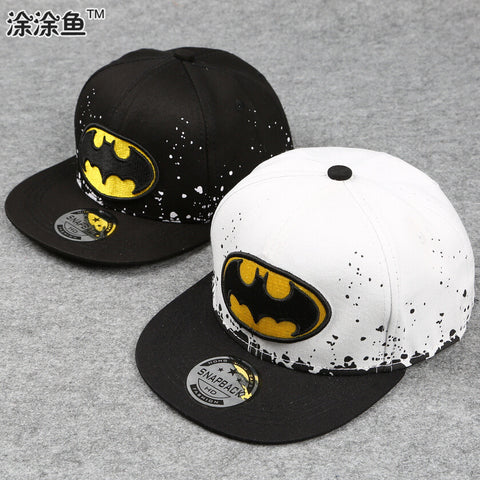 2016 Fashion Kids Cartoon Snapback Caps, Flat Brim child baseball cap, embroidery children spiderman hats, Cute batman hat -  - Houzz of Threadz - 1