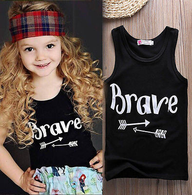 Girls Graphic Brave T-Shirt -  - Houzz of Threadz - 1