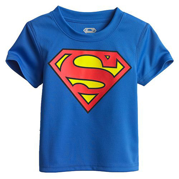 2016 Cartoon Printing Superman Short Sleeve T-Shirts Fashion Cotton Children Kids Baby Girls Boys T Shirts Tops Child Clothing -  - Houzz of Threadz