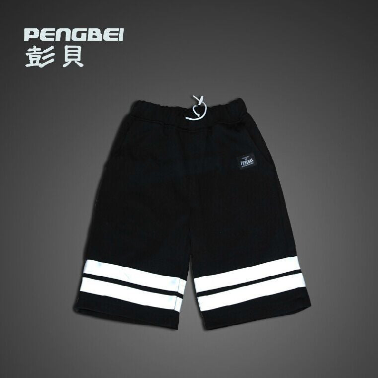 3M Reflective hip hop short pants South Korean Running Men brand jogger shorts mens autumn muay thai Night run gym casual shorts -  - Houzz of Threadz