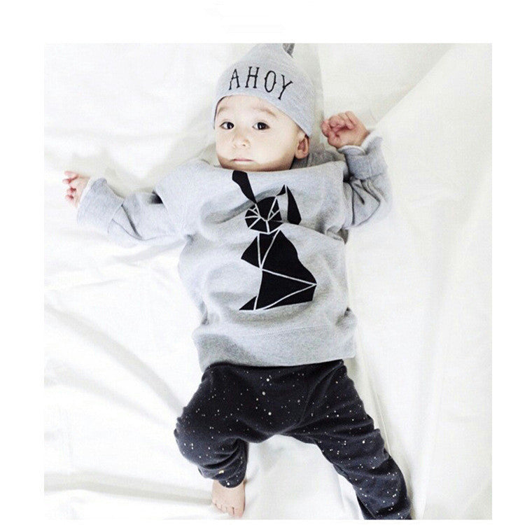 d2494c771b3 2016 kids boys summer style infant baby boy clothes set baby boy clothing  sets cotton little monsters 2pcs baby girl clothes set