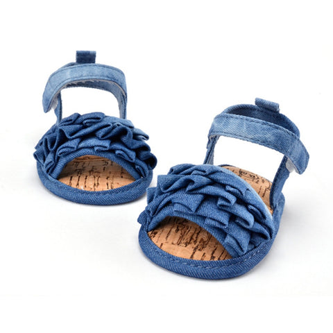 Newborn Baby Toddler Shoes Jean Style Girl Kid Denim Infant Cozy Soft Prewalkers -  - Houzz of Threadz