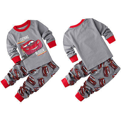 2016 spring autumn baby boys car printed clothes t-shirt + pants cotton suit children set Kids clothing bebe infant clothing -  - Houzz of Threadz