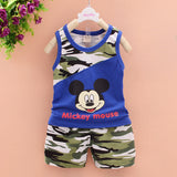 2016 baby boys summer style infant clothes baby clothing sets boy Cotton Camouflage Mickey 2pcs kids -  - Houzz of Threadz - 1