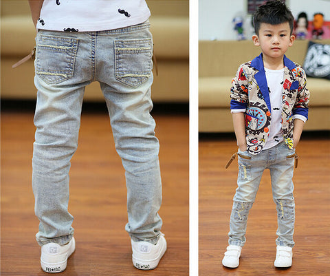 Boys Slim Light-Colored Jeans -  - Houzz of Threadz - 1