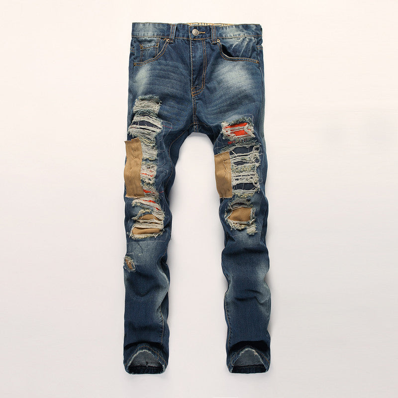 2016 Mens Fashion Pants Skinny Pencil Jeans Men Boy Denim Feet Pants Trousers Jogger Slim Pants Mens Sport Baggy Pants UF-PK-696 -  - Houzz of Threadz