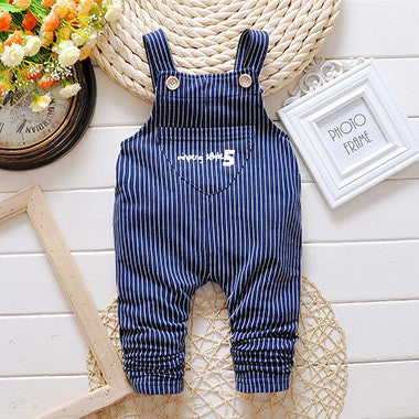Children's Striped Overalls - image color / 12M - Houzz of Threadz - 2