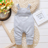 Children's Striped Overalls - image color 2 / 12M - Houzz of Threadz - 4