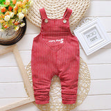 Children's Striped Overalls - image color 3 / 12M - Houzz of Threadz - 3