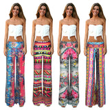 2016 new women haremed pants pantalonsed femme vintage trousers women joggers palazzo high waist beach flower striped pants -  - Houzz of Threadz - 1