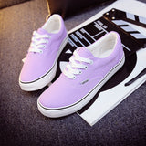 Women Canvas Casual Flat Shoes Low Breathable Solid Color  Candy Colors Leisure Cloth Shoes -  - Houzz of Threadz - 66