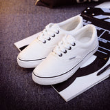 Women Canvas Casual Flat Shoes Low Breathable Solid Color  Candy Colors Leisure Cloth Shoes -  - Houzz of Threadz - 35