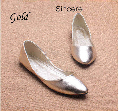 Spring & Autumn Casual  Women  Flats With Pointed Toe. - Gold / 5.5 - Houzz of Threadz - 6