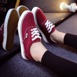 Women Canvas Casual Flat Shoes Low Breathable Solid Color  Candy Colors Leisure Cloth Shoes -  - Houzz of Threadz - 47