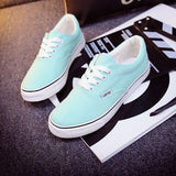 Women Canvas Casual Flat Shoes Low Breathable Solid Color  Candy Colors Leisure Cloth Shoes -  - Houzz of Threadz - 12