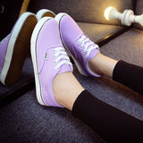 Women Canvas Casual Flat Shoes Low Breathable Solid Color  Candy Colors Leisure Cloth Shoes -  - Houzz of Threadz - 19