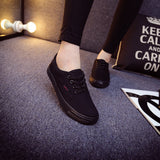 Women Canvas Casual Flat Shoes Low Breathable Solid Color  Candy Colors Leisure Cloth Shoes -  - Houzz of Threadz - 49