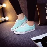 Women Canvas Casual Flat Shoes Low Breathable Solid Color  Candy Colors Leisure Cloth Shoes -  - Houzz of Threadz - 41