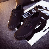 Women Canvas Casual Flat Shoes Low Breathable Solid Color  Candy Colors Leisure Cloth Shoes - black / 6 - Houzz of Threadz - 61