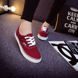 Women Canvas Casual Flat Shoes Low Breathable Solid Color  Candy Colors Leisure Cloth Shoes -  - Houzz of Threadz - 46