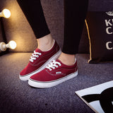 Women Canvas Casual Flat Shoes Low Breathable Solid Color  Candy Colors Leisure Cloth Shoes -  - Houzz of Threadz - 17