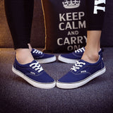 Women Canvas Casual Flat Shoes Low Breathable Solid Color  Candy Colors Leisure Cloth Shoes -  - Houzz of Threadz - 4