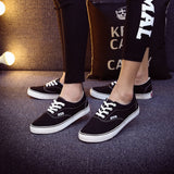 Women Canvas Casual Flat Shoes Low Breathable Solid Color  Candy Colors Leisure Cloth Shoes -  - Houzz of Threadz - 63