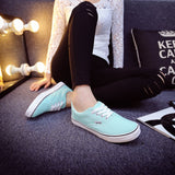 Women Canvas Casual Flat Shoes Low Breathable Solid Color  Candy Colors Leisure Cloth Shoes -  - Houzz of Threadz - 60