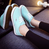 Women Canvas Casual Flat Shoes Low Breathable Solid Color  Candy Colors Leisure Cloth Shoes -  - Houzz of Threadz - 48