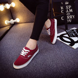 Women Canvas Casual Flat Shoes Low Breathable Solid Color  Candy Colors Leisure Cloth Shoes -  - Houzz of Threadz - 68