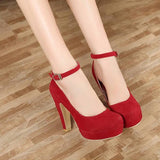 The trend Of Autumn Thick Ultra High Heels Shoes -  - Houzz of Threadz - 6
