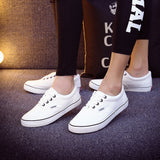Women Canvas Casual Flat Shoes Low Breathable Solid Color  Candy Colors Leisure Cloth Shoes -  - Houzz of Threadz - 16