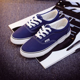 Women Canvas Casual Flat Shoes Low Breathable Solid Color  Candy Colors Leisure Cloth Shoes -  - Houzz of Threadz - 10