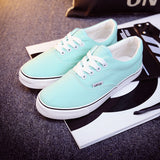 Women Canvas Casual Flat Shoes Low Breathable Solid Color  Candy Colors Leisure Cloth Shoes -  - Houzz of Threadz - 53