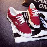Women Canvas Casual Flat Shoes Low Breathable Solid Color  Candy Colors Leisure Cloth Shoes -  - Houzz of Threadz - 1