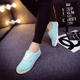 Women Canvas Casual Flat Shoes Low Breathable Solid Color  Candy Colors Leisure Cloth Shoes -  - Houzz of Threadz - 23