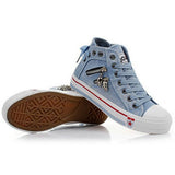High Upper Platform Canvas Shoes Woman Lace-up Casual & Flat Walking Shoes - color 1 / 5.5 - Houzz of Threadz - 8