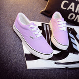 Women Canvas Casual Flat Shoes Low Breathable Solid Color  Candy Colors Leisure Cloth Shoes -  - Houzz of Threadz - 70