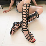 Sexy Knee High Gladiator Sandals , Perfect For A Nice Summer Day -  - Houzz of Threadz - 1