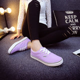 Women Canvas Casual Flat Shoes Low Breathable Solid Color  Candy Colors Leisure Cloth Shoes -  - Houzz of Threadz - 54