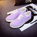 Women Canvas Casual Flat Shoes Low Breathable Solid Color  Candy Colors Leisure Cloth Shoes -  - Houzz of Threadz - 65