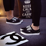 Women Canvas Casual Flat Shoes Low Breathable Solid Color  Candy Colors Leisure Cloth Shoes -  - Houzz of Threadz - 22