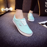 Women Canvas Casual Flat Shoes Low Breathable Solid Color  Candy Colors Leisure Cloth Shoes -  - Houzz of Threadz - 67