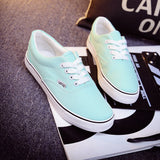 Women Canvas Casual Flat Shoes Low Breathable Solid Color  Candy Colors Leisure Cloth Shoes -  - Houzz of Threadz - 11