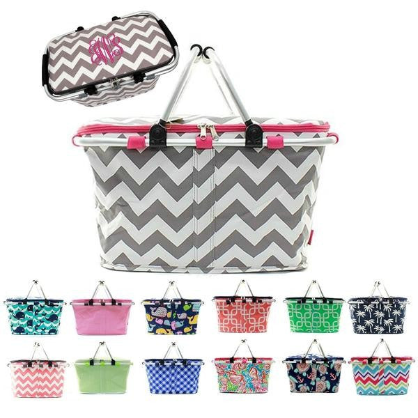 a3c599312ad77 Personalized Large Picnic Basket Insulated Cooler Tote Bag ...