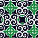 Moroccan Lime Navy