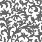 Gray Damask Floral