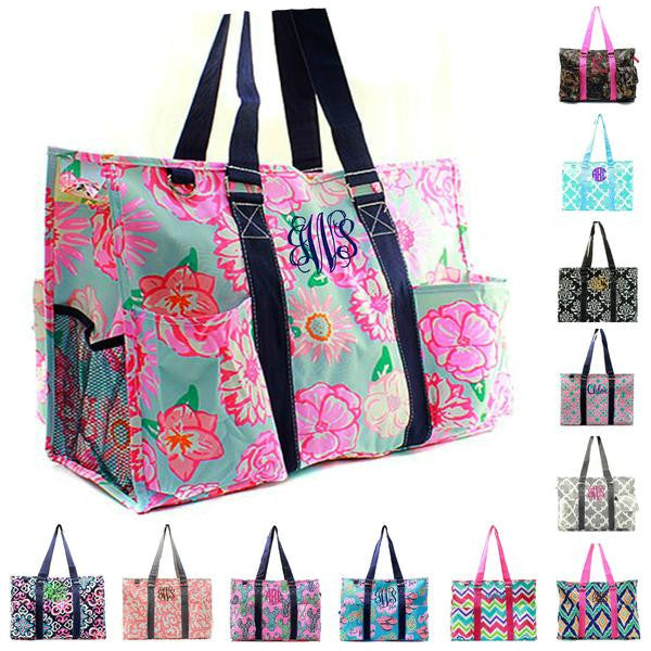 157f40215aa73 Personalized Large Organizing Utility Tote Bag | GiftsHappenHere.com ...