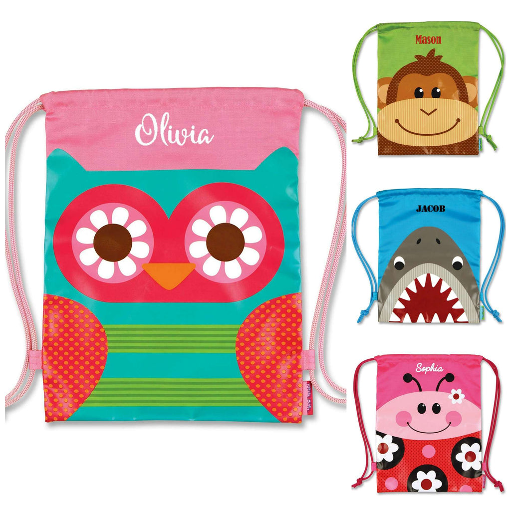 Personalized Kids Drawstring Backpack - Stephen Joseph